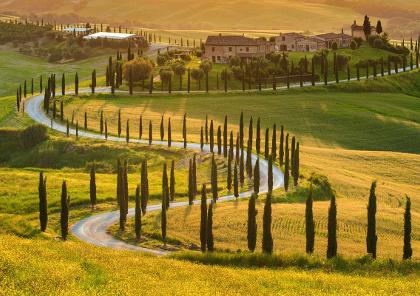 road trip en toscane et tour de l'italie à moto