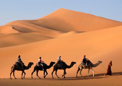 voyage à moto et road trip dans le désert marocain et sahara