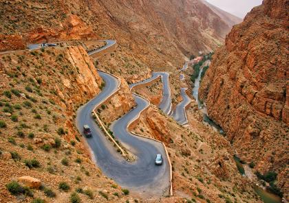 voyage moto dans l'atlas par les gorges de dadès