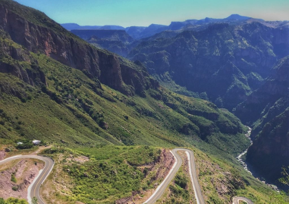 voyage moto les canyons du Mexique et circuit dans la montagne