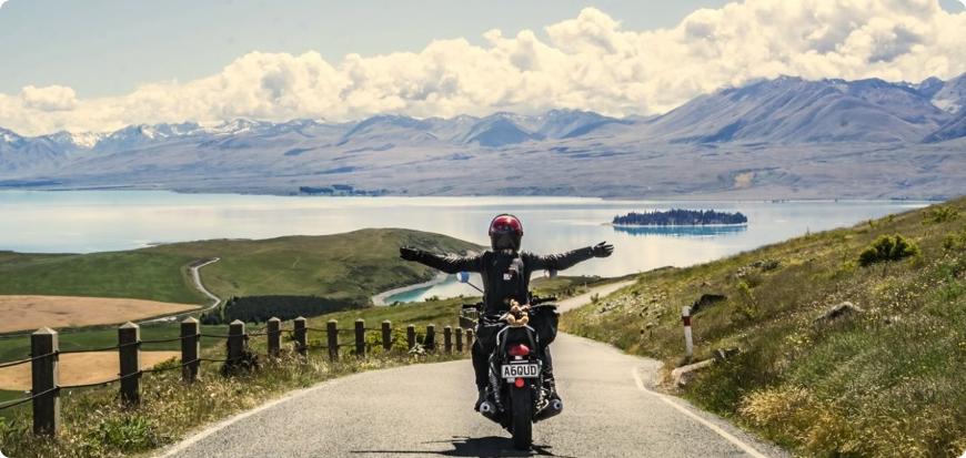 voyage moto dans l'ile du sud de la nouvelle zelande