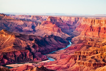voyage et circuit moto à travers le grand canyon des usa